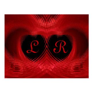 El día de San Valentín doble abstracto del corazón Postal