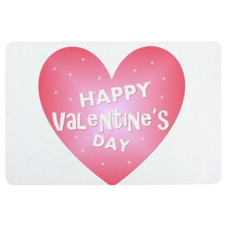 El día de San Valentín feliz Alfombra