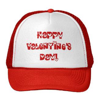El día de San Valentín feliz con los corazones Gorros Bordados