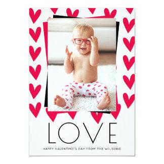 El día de San Valentín feliz de los corazones de Invitación 12,7 X 17,8 Cm