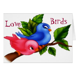 """""""El día de San Valentín feliz de los pájaros del a Felicitaciones"""