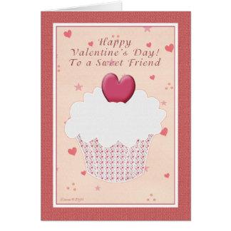 El día de San Valentín feliz del amigo - magdalena Tarjeta De Felicitación