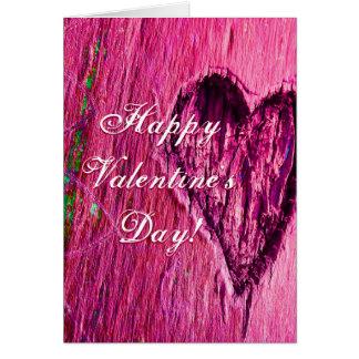 El día de San Valentín feliz del solo corazón en Tarjeta De Felicitación