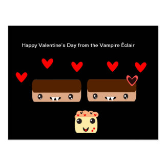 El día de San Valentín feliz del vampiro Éclair Postal