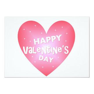 El día de San Valentín feliz Invitación 12,7 X 17,8 Cm