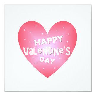 El día de San Valentín feliz Invitación 13,3 Cm X 13,3cm