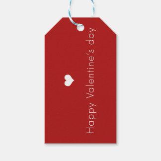 el día de San Valentín feliz minimalista Etiquetas Para Regalos