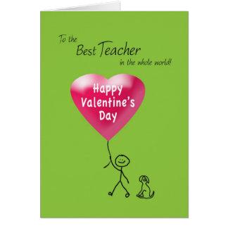 El día de San Valentín feliz para el profesor Felicitaciones
