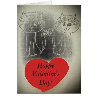 ¡El día de San Valentín feliz! Tarjeta De Felicitación
