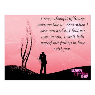 El día de San Valentín feliz Postal