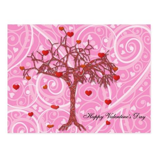 El día de San Valentín feliz Tarjeta Postal