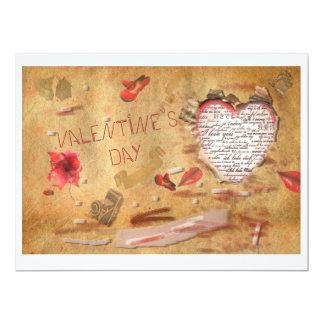 El día de San Valentín Invitación 16,5 X 22,2 Cm