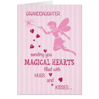 El día de San Valentín rosado de hadas mágico de Tarjeta De Felicitación