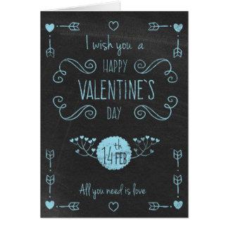 """El día de San Valentín - tiza Bl del """"el día de Tarjeta De Felicitación"""