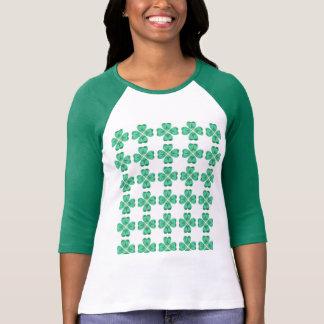 El día de St Patrick 3/4 blusa con mangas
