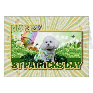 El día de St Patrick - Bichon Frise - Mia Tarjeta De Felicitación
