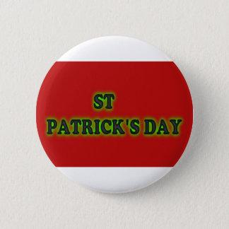 el día de St Patrick, botón redondo de la pulgada