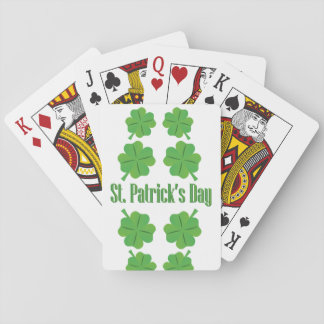 El día de St Patrick con el trébol Baraja De Cartas