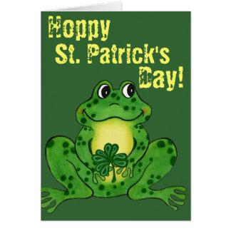 El día de St Patrick de lúpulo - tarjeta de lúpulo