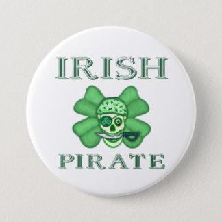 El día de St Patrick del irlandés piratea el botón