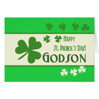 El día   de St Patrick feliz del ahijado Tarjeta De Felicitación