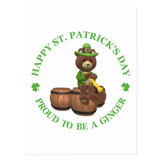 El día de St Patrick feliz - orgulloso ser un Postal