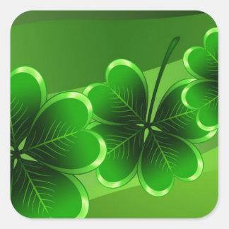 El día de St Patrick feliz Pegatina Cuadrada