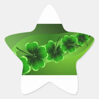 El día de St Patrick feliz Pegatina En Forma De Estrella