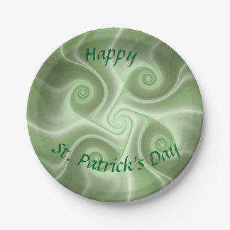 El día de St Patrick feliz Plato De Papel