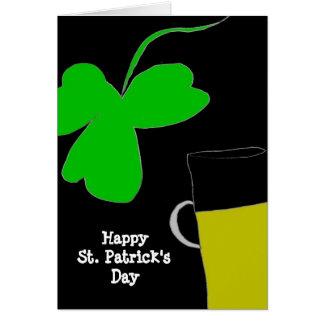 El día de St Patrick feliz Felicitacion