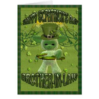 El día de St Patrick para el cuñado Tarjeta De Felicitación