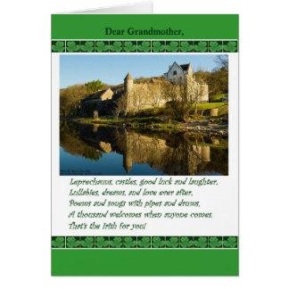 El día de St Patrick para la abuela, poema, Tarjeta De Felicitación