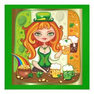 El día de St Patrick - SRF Invitación 13,3 Cm X 13,3cm