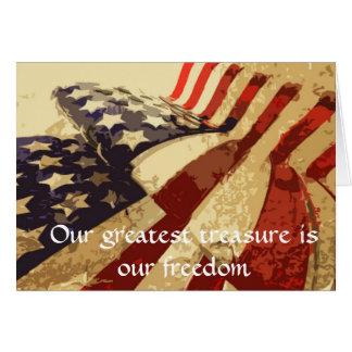 El día de veterano nuestra tarjeta de felicitación