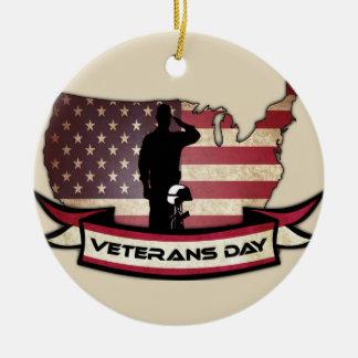 El día de veteranos único honra el ornamento del