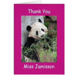 El día del aprecio del profesor le agradece panda tarjeta de felicitación