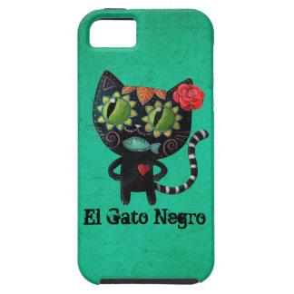 El día del gato negro muerto iPhone 5 Case-Mate carcasas