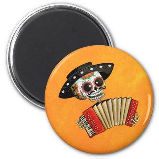 El día del Mariachi muerto del EL del esqueleto Imán Redondo 5 Cm