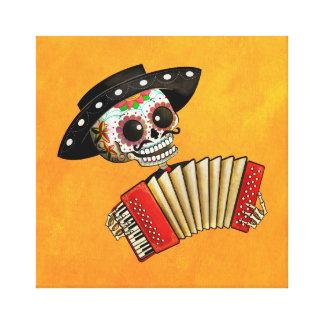 El día del Mariachi muerto del EL del esqueleto Lona Estirada Galerías