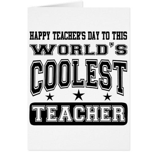 El día del profesor feliz al profesor más fresco d tarjetón
