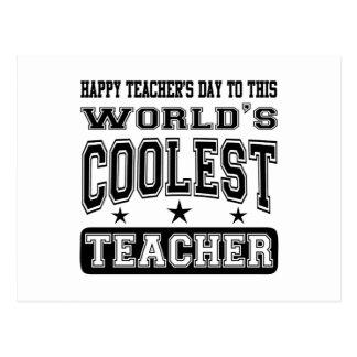 El día del profesor feliz al profesor más fresco postal