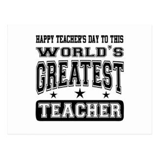El día del profesor feliz al profesor más grande postal
