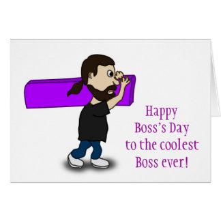El día feliz de Boss al jefe más fresco nunca Felicitacion