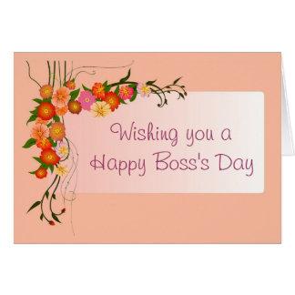 El día feliz de Boss para el jefe femenino con las Tarjeta