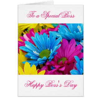 El día feliz de Boss para el jefe femenino con las Tarjeta De Felicitación