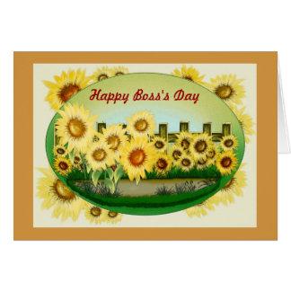 El día feliz de Boss para el jefe femenino con los Tarjetas