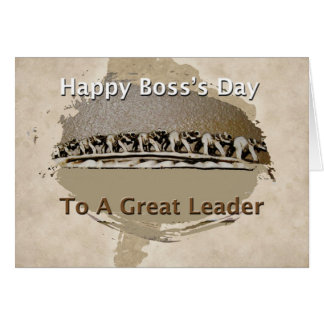 El día feliz de Boss Tarjeta De Felicitación