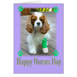 El día feliz de las enfermeras con los perros de a felicitación