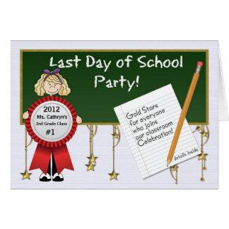 El día pasado de fiesta de la escuela del profesor tarjeta de felicitación