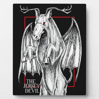 El diablo del jersey placa expositora